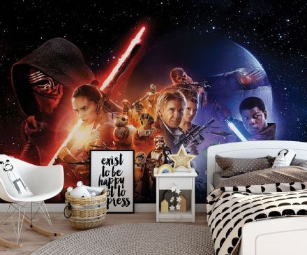 Star Wars Disney Collage wallpaper murals